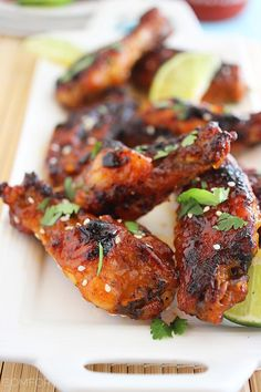 The Comfort of Cooking » Baked Honey-Sriracha Chicken Wings