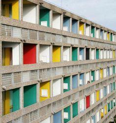 Le Corbusier   Maison du Brésil in Paris   The colorful balconies