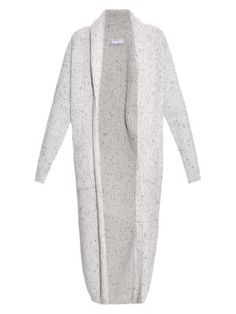 Chunky ribbed-knit donegal wool-blend cardigan | Raey | MATCHESFASHION.COM