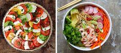 nudelsalat og tomatterte