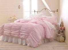 Copriletto nelle nuances del rosa - Copriletto rosa elegante per arredare una camera da letto romantica.