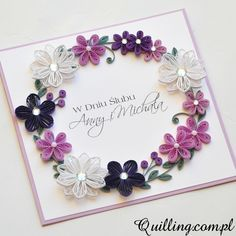 wedding, greeting card, quilling, handmade, Quilling.com.pl