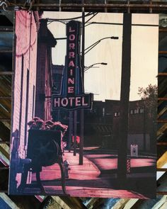 Lorraine Hotel in Memphis on 11x14 Wood Wrap Canvas