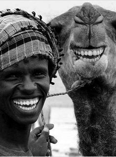 A Man and his Camel, Smiles of Joy!