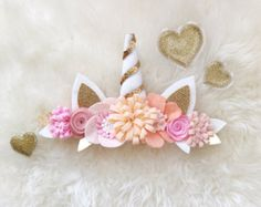 Items similar to Deer Antler Crown Headband // peaches and cream boho felt flower crown on Etsy Handmade Headbands, Handmade Soaps, Handmade Crafts, Handmade Rugs, Felt Headband, Unicorn Headband, Crown Headband, Felt Flowers, Fabric Flowers