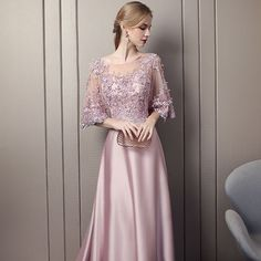 Modern / Fashion Candy Pink Pierced Evening Dresses 2018 A-Line / Princess Scoop Neck Sleeves Appliques Lace Sequins Beading Cathedral Train Ruffle Backless Formal Dresses Modern / Fashion Candy Pink Pierced Evening Dresses 2018 A-Line / Princess Scoo Glamorous Evening Dresses, Grey Evening Dresses, Burgundy Evening Dress, Long Evening Gowns, Beautiful Prom Dresses, Cute Dresses, Formal Dresses, Dress Brokat Modern, Robes Pour Juniors