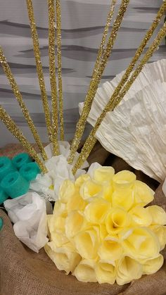 Coffee filter coral and crushed shell sticks