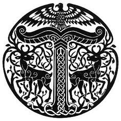 10 best german symbols images germany austria destinations 18th Century European History the symbol of the irminsul of the pagan german tribes notice the two stags flanking it while sitting on top is a bird of prey maybe a turul bird