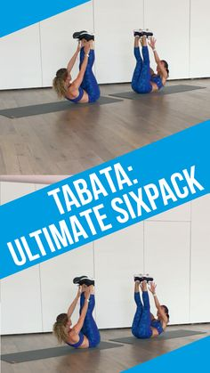 "Abdominal exercises in the video: 4 minutes of Tabata Ultimate Sixpack Workout Belly gone in 4 minutes. Of course it's not that simple – but if you do our ""Ultimate Sixpack Tabata Crossfit, Workout Hiit, Sixpack Workout, Workout Challenge, Workout Videos, Workout Exercises, Quick Workout At Home, At Home Workouts, Ultimate Workout"