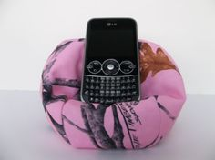 Cell phone bean bag chair pink camo True Timber by FionaMeadow, $10.00  Love pink camo!