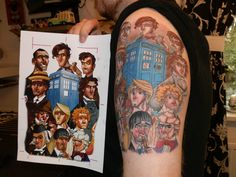 Doctor Who Tattoo Sleeve | Lee's Dr.Who Tattoo by 01207bigal