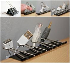 Use Binder Clips to Keep All Your Cables in Place