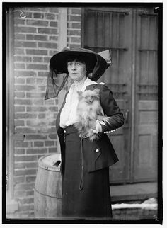 """c.1920s  """"Mrs. Jerome Bonaparte"""" at Wash DC Dog Show (unsure of dog breed type) =Reproduction Antique/Vintage Photo Photograph Giclee Print on Etsy, $7.00"""