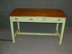 Large painted desk (Console Table) - (t44082)