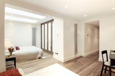 French doors bringing in light from outside as well as the windows above the bed French Doors, Bespoke, Oversized Mirror, Windows, Bedroom, Building, Furniture, Home Decor, Taylormade