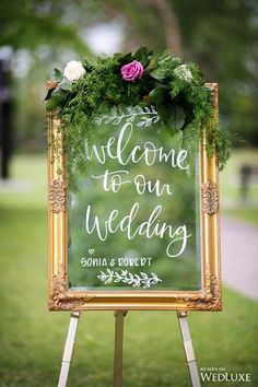 30 Romantic And Elegant Wedding Welcome Signs For Your Big Day - Page 20 of 30 - Chic Hostess Romantic And Elegant Wedding Welcome Signs For Your Big Day; Wedding Welcome Sign; Lilac Wedding, Elegant Wedding, Wedding Bouquets, Wedding Flowers, Wedding Signage, Wedding Ceremony, Wedding Day, Dream Wedding, Wedding Mirror