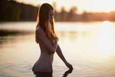 Sunset at the lake Model: Andrea | Available light | © Miki Macovei 201...