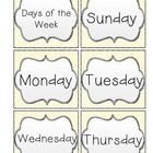 Here are days of the week cards to use for your calendar. There are three different options. ...