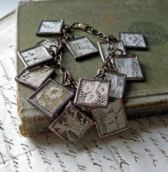 Very Cool Lace and Silver Bracelet........very creative