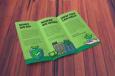 Non Profit Brochure Templates Free New Natural Green Illustrated Nonprofit Trifold Brochure Idea Powerpoint Presentation Examples, Brochure Examples, Creative Brochure, 3 Fold Brochure, Brochure Template, Design Brochure, Pamphlet Design, Leaflet Design, Flyer And Poster Design