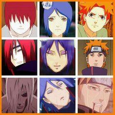 Nagato, Konan, Yahiko. Naruto