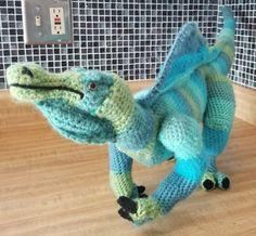 Amigurumi spinosaurus by BattyWorks  https://www.etsy.com/listing/567181263/spinosaurus-amigurumi-doll