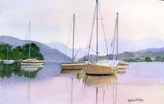 Still Water. A  watercolour by Sylvia Twiss