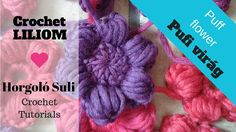 Pufi virág horgolási minta Crochet Decoration, Crochet Necklace, Flowers, Bikini, Youtube, Amigurumi, Bikini Swimsuit, Bikinis, Royal Icing Flowers