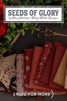 Seeds of Glory is a beautiful Americana fabric collection by Stacy West of Buttermilk Basin for Riley Blake Designs. Shop available precuts, yardage, and fat quarter sets at www.shabbyfabrics.com.