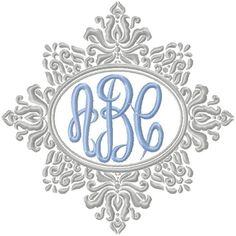 Oval Monogram Frame - Machine Embroidery Design - comes in 4,5,6,7,8 inch sizes