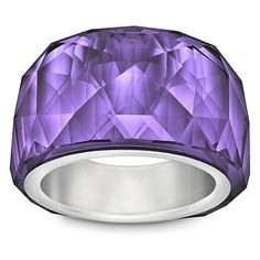 Swarovski Nirvana Purple Velvet Petite Ring (160 CAD) found on Polyvore
