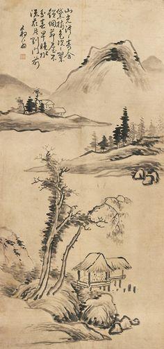 (Korea) 소림묘옥 by Poam Gang Se-hwang (1713-1791). color on paper. Gansong gallery…