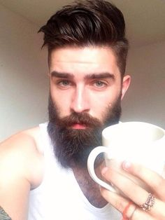 Beard and hair.