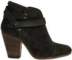Versatile black suede booties with a stacked heel and cross straps for fall and winter 2013 - 2014 ♥ Get this look at @SPARKTREND for $60, click the image to see! #ankle #boots #womens #boot #fashion