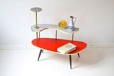 German kidney plant table 50s flower stand formica eames era mid ...