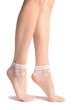 """White With Wine Leaves Socks Ankle High - Socks One Size (US Variations Available, search for """"LissKiss Ankle Socks"""" Same Day Shipment Soft to touch Wide Range Of Colors Sheer Socks, Lace Socks, Women's Socks & Hosiery, Ankle High Socks, Socks And Heels, Diabetic Socks, Foot Socks, Pantyhose Heels, Winter Socks"""