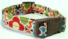 Dog Collar Stained Glass  Brown and Red by PipsqueakAndPetunia, $16.00