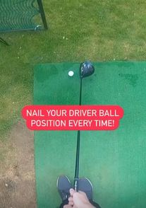 Hitting It Solid together with Jonathon Chown share a great golf tip on how to get the right ball position with your driver every time. Driving Instructions, Driving Practice, Golf Books, Golf Score, Golf Chipping, Best Golf Courses, Golf Drivers, Driving Tips, Golf Instruction