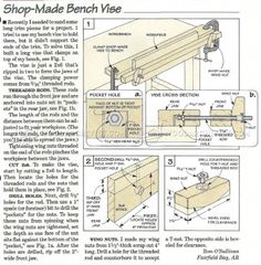 #621 DIY Bench Vise - Workshop Solutions Plans, Tips and Tricks
