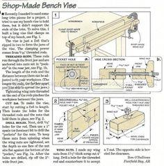 #621 DIY Bench Vise - Workshop Solutions