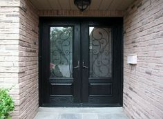 Doors Front Doors With Glass With A Mailbox On A Brick Wall Front Doors with Glass Is Best Front Door Design to Apply