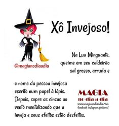 Magia no Dia a Dia: Xô Invejoso! Wiccan, Witchcraft, Magic Day, Baby Witch, Practical Magic, Book Of Shadows, Peace Of Mind, Reiki, Spelling