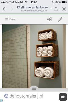 Handdoeken Opbergen.