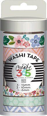 Create 365 Washi Tape 7/Pkg-Fresh Floral
