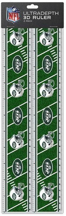 NFL New York Jets 2pk 3-D Ruler Case Pack 72