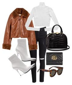 """""""Untitled #22737"""" by florencia95 ❤ liked on Polyvore featuring H&M, Jeffrey Campbell, CÉLINE and Gucci"""