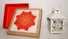 Caixa Patchwork Embutido Flor Mandala