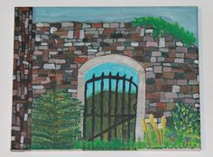 Stone Gateway by aCoupleofBrushes on Etsy https://www.etsy.com/listing/243264144/stone-gateway