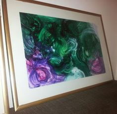 Malachite painting- ready to hang Malachite, My Arts, Diy Projects, Walls, Paintings, Heart, Room, House Interiors, Bedroom