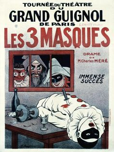 Adrien Barrère - Theatre de Grand Guignol / Les 3 Masques - Fine Art Print - Global Gallery